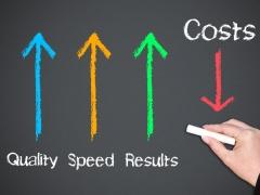 Cost  -低コスト・短期間で高い成果を実現-